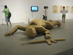 Joseph DeLappe,Cardboard Soldier- America's Army, 2009