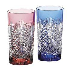 Edo Kiriko Glassware. Japan