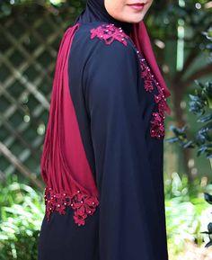 Gene Floral Applique Abaya   My Online Souk   www.myonlinesouk.co.za Modest Dresses, Eid, Applique, Floral, Clothes, Design, Tall Clothing, Flowers, Clothing Apparel