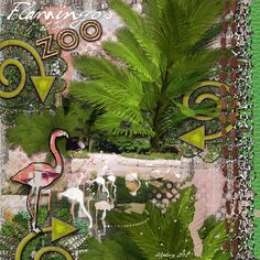 ZOO: Flamingo's at the Zoo.  I made this page with Zoobahlou! The Bundle by Altered Amanda's Studio, available here: http://www.godigitalscrapbooking.com/shop/index.php?main_page=index&manufacturers_id=148 Also used: Art Journal Style Page Template Bundle by Altered Amanda's Studio at Go Digital Scrapbooking here: http://www.godigitalscrapbooking.com/shop/index.php?main_page=index&manufacturers_id=148