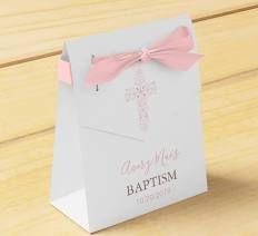 Baptism, Christening Party Favour Box; Cross 10 favour boxes