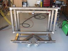 Folding TIG Table by gfmoul -- Homemade folding TIG welding table fabricated from steel plate and tubing. http://www.homemadetools.net/homemade-folding-tig-table