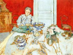 The Athenaeum - Madame Vuillard Shelling in the Dining Room (Edouard Vuillard - )