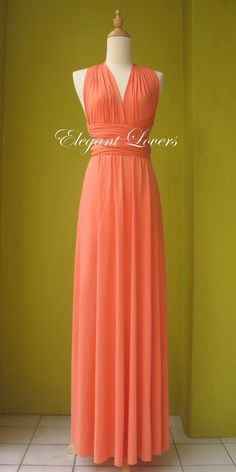 Orange Color Wedding Dress Bridesmaid Dress by Elegantlovers, $79.00
