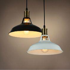 vintage pendant light painted Iron loft lamp Nordic Retro Light Incandescent Bulbs E27 lamp Industrial Lighting Fixtures