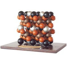 1953 Harvard University Molecular Model Sculpture. Would be a good science/art activity for middle schoolers