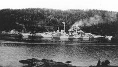 Tirpitz in Fættenfjord near Trondheim, Norway 1942 German Kriegsmarine Battleship Tirpitz In Norway #Tirpitz #Battleship #Kriegsmarine #GermanBattleship