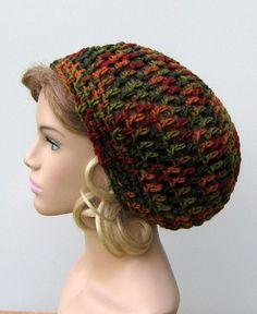 Autumn Hippie short Dreadlock snood dread Tam by PurpleSageDesignz, $15.00