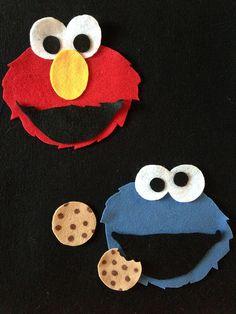 Felt Board Elmo & Cookie Monster by CraftyGoat, via Flickr