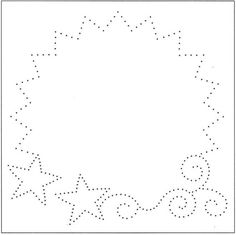String Art Star and power wow template Embroidery Cards, Embroidery Patterns, Card Patterns, Stitch Patterns, Stitching On Paper, Sewing Cards, Christmas Templates, String Art, Scrapbook Paper
