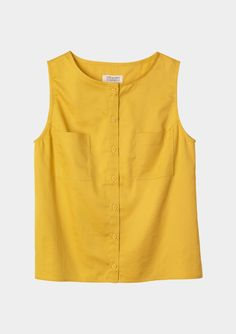 I'm craving some simple cotton shells like this Oletta Sleeveless Shirt in Celandine Yellow at Toast UK