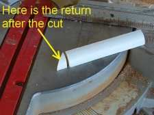 Cutting quarter round returns is simple once you understand where to cut. The return hides the cut end of the quarter round. Base Shoe Molding, Floor Molding, Moldings And Trim, Crown Molding, Vinyl Flooring Kitchen, Diy Flooring, Laminate Flooring, Flooring Ideas, Baseboard Trim