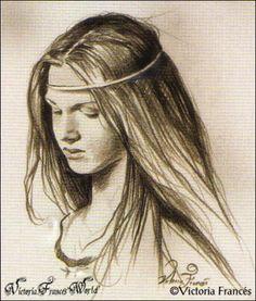 victoria frances, fantasy sketch, maiden