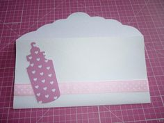 Money envelope for a baby shower