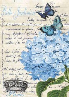 Ideas vintage flowers decoupage scrapbooking for 2020 Decoupage Vintage, Vintage Diy, Vintage Labels, Vintage Ephemera, Vintage Cards, Vintage Paper, Vintage Postcards, Images Vintage, Vintage Pictures
