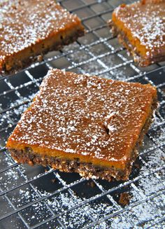 Spice meets sweet in these scrumptious squares. Dust with powdered sugar for dessert you'll want all to yourself, whether it's Thanksgiving or Christmas. Get the recipe at Running with Spoons.