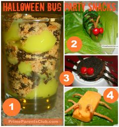 Halloween Bug Party Snacks