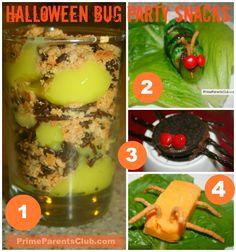 {CUTE} Halloween Bug Party Snacks #Halloween #food #parties #snacks #kids
