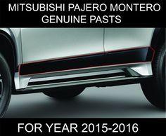 MITSUBISHI MONTERO PAJERO SPORT SIDE DOORS BODY MOLDING TRIMS GENUINE PARTS 2016…