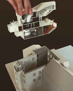 Gallery of Museum of Apoxyomenos / Saša Randić and Idis Turato - 18 Maquette Architecture, Architecture Model Making, Architecture Student, Architecture Portfolio, Concept Architecture, Architecture Details, Interior Architecture, Planer Layout, Landscape Model