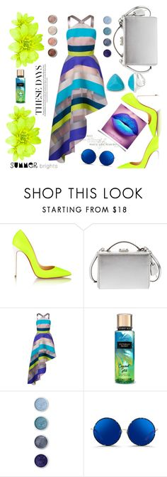 """""""Summer Time Fly!"""" by thedistinctiveme ❤ liked on Polyvore featuring Christian Louboutin, Mark Cross, Ginger & Smart, Terre Mère, Matthew Williamson, Liz Claiborne and summerbrights"""