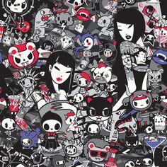 Simone Legno, tokidoki #art #illustration #anime #kawaii