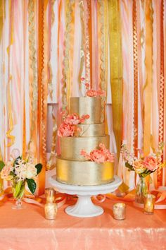 pink and coral and orange and yellow and gold!