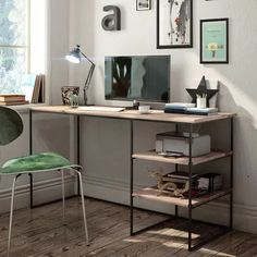 Adorable Plywood Desk Design Ideas For Home Office 01 natur Office Table, Home Office Desks, Office Furniture, Office Decor, Furniture Design, Wood Furniture, Table Desk, Furniture Styles, Cheap Furniture