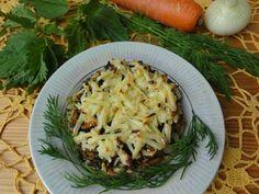 Запеканка с крапивой, картофелем и грибами