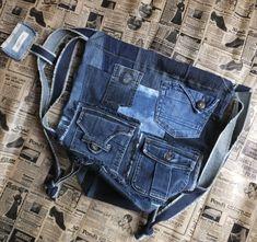 Garyusha Denim Bags Design, Denim Riga, Latvia by GaryushaDenimBags Denim Backpack, Denim Tote Bags, Big Bags, Market Bag, Shopper Bag, Handmade Bags, Happy Shopping, Crossbody Bag, Backpacks
