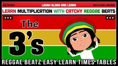 3 Times Table Song (Reggae Beatz) Learn to Fun & Catchy Songs! Times Tables, Year 2, Multiplication, Reggae, Maths, How To Memorize Things, Songs, Learning, Fun