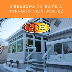 A sunroom instantly adds value to your home in any season, but here are 5 great reasons to talk to Desert Sunrooms about installing a sunroom this winter. Winter Deserts, Sunroom Addition, Desert Sun, Sunrooms, Calgary, Home, Courtyards, House, Conservatory