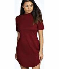 boohoo Kareena Ribbed Curved Hem Bodycon Dress - berry Textured and with an on trend high neck, heres how to bring a sporty side to the bodycon dress ! Team it with tread boots , a Perspex clutch and bold lip . http://www.comparestoreprices.co.uk/dresses/boohoo-kareena-ribbed-curved-hem-bodycon-dress--berry.asp