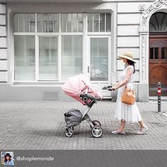 #summer in the city - stroll with style! @shoplemonde knows how to roll with her #stokkexplory summer kit in faded pink