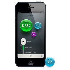 """Movin' and groovin' just got even cooler thanks to the new iPhone app Moves (free)— a fitness tracking device that doesn't require """"extras. Nutrition Tracker App, Food Nutrition Facts, Fitness Tracker, You Fitness, Health And Nutrition, Fitness Diet, Health And Wellness, Health Fitness, Track Workout"""