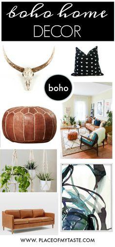 Bright, fun and boho home decor style! Love it♥