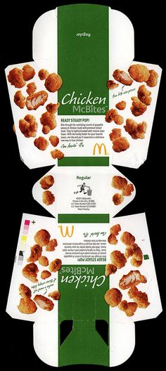 McDonald's - Chicken McBites - fast food box - 2011 by JasonLiebig, via Flickr Barbie Food, Doll Food, Kirigami, Comida Delivery, Mcdonalds Chicken, Food Box, Retro Recipes, Mini Foods, Barbie House