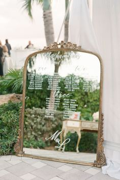 Get swept away in the beauty of this inspired Miami wedding at @vizcaya_musuem! 💍 This impeccable affair by @eventsbygigi is nothing short of stunning and you'll see why after swiping through these incredible images. | LBB Photography & Videography: @bonphotage #stylemepretty #weddingmirror #weddingsign #weddingdecor #miamiwedding