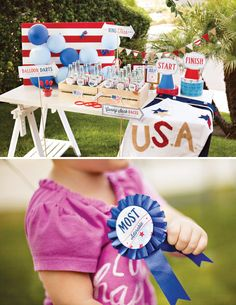 "It would be SO fun to have a 4th of July party with games and prizes like ""Most Adorable"" ""First Place"" ""Best Dressed"" and so on. I think I want to do this when the girls get older and we have a bigger yard :)"