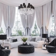 Nadire Atas on Simple and Elegant Living Areas 44 Beautiful Home Curtain Ideas For Your Interior Design To Looks Elegant Glam Living Room, Elegant Living Room, Living Room Decor, Living Spaces, Small Living, Modern Living, Minimalist Living, Contemporary Family Rooms, Interior Design Career
