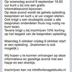 Gratis informatieavond Magnetic Allround opleiding nagelstyliste. Inschrijven: info@wilsnagelstudio.nl/0344-613430