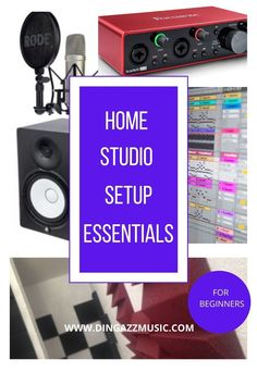 Home recording studio basic for beginners.Get your home studio setup. Plan your studio before you design it. What studio equipment, studio ideas, Start out with a simple studio. #homerecordingstudio #homestudio #studioequipment Home Recording Studio Setup, Home Studio Setup, Music Studio Room, Studio Ideas, Music Rooms, Recording Equipment, Audio Equipment, Home Studio Equipment, Video Game Rooms