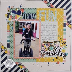 """""""Segway Love"""" By Becki Adams for Stamp & Scrapbook Expo - link includes Scrapbooking Process Video"""