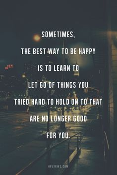 ...letting go...