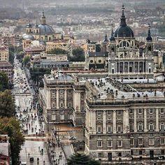 Palacio real visto desde arriba