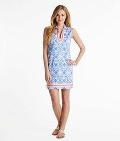 Shell Lattice Tunic Dress