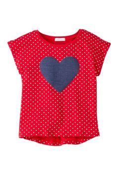 Short Sleeve Top Knit Tee (Toddler Girls) by Petit Lem on @nordstrom_rack