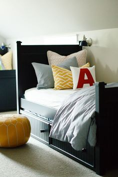 Make letter cushions for boys' room