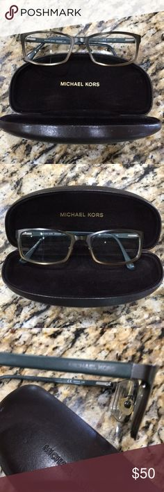 Michael Kors Frames These are timeless metallic frame with spring hinge and original case. They are in excellent used condition. You will need to get your own Rx. I am leaving mine in strictly for your lab. Thank you for checking out my closet! Michael Kors Accessories Glasses