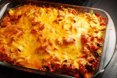 Ground Beef and Cheddar Casserole Recipe – 7 Points   - LaaLoosh